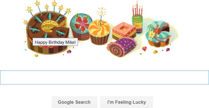 Гугл поздравления с днём рождения